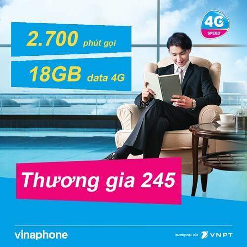 Gói cước VinaPhone trả sau Thương gia 245 Doanh nghiệp