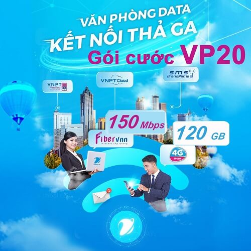 Gói cước Văn phòng data VP20 - internet cáp quang doanh nghiệp