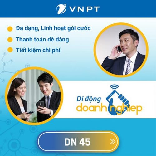 Gói Cước Di Động VinaPhone Trả Sau Doanh Nghiệp DN-45
