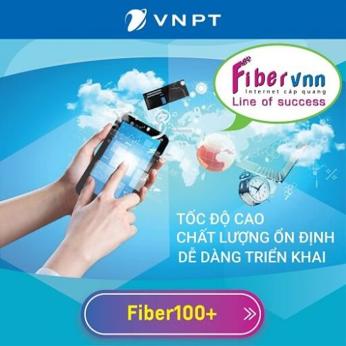 Gói Internet Cáp Quang Doanh Nghiệp VNPT Fiber100+ 100 Mbps 1+8 IP Tĩnh