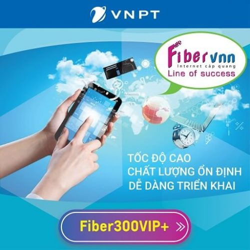 Internet Cáp Quang Doanh Nghiệp VNPT Fiber300VIP+ 300Mbps 1+16 IP Tĩnh