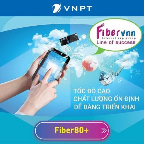 Gói Internet Cáp Quang Doanh Nghiệp VNPT Fiber80+ 1 IP Tĩnh 80 Mbps