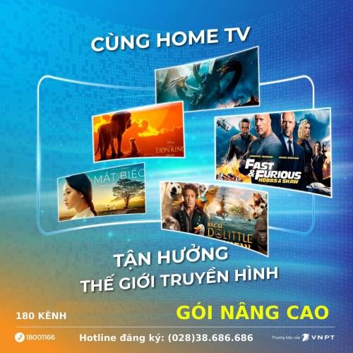 Gói truyền hình MyTV nâng cao 180 kênh